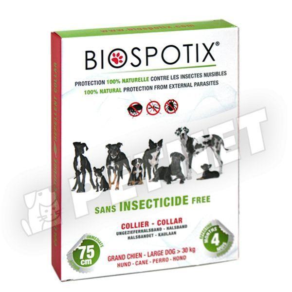 BioSpotiX Bolha és kullancsírtó nyakörv L 75cm