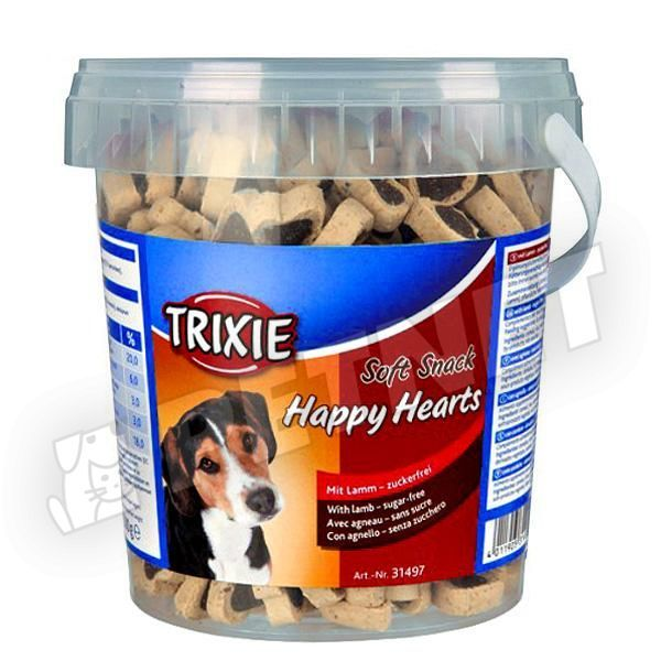 Trixie Soft Snack Happy Hearts Lamb 500g