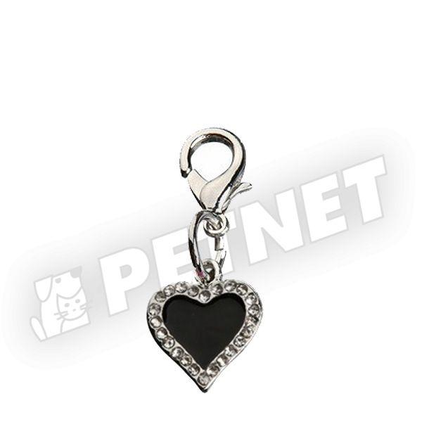 Trixie Heart ékszer kövekel Fekete 1,7cm
