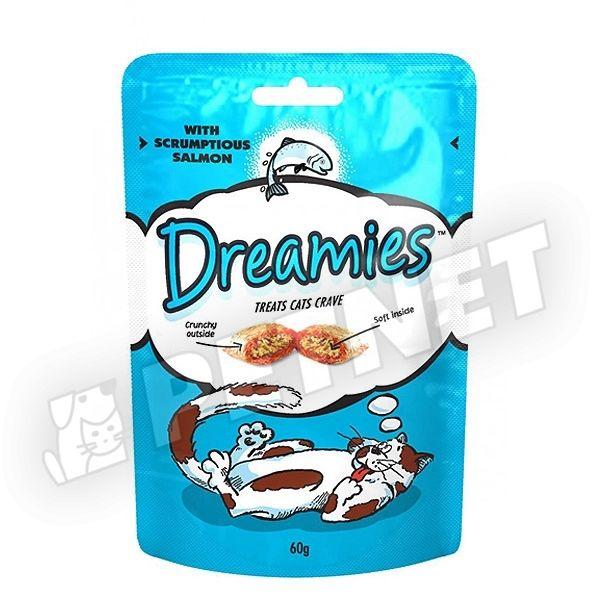 Dreamies Töltött falatkák lazacos 60g