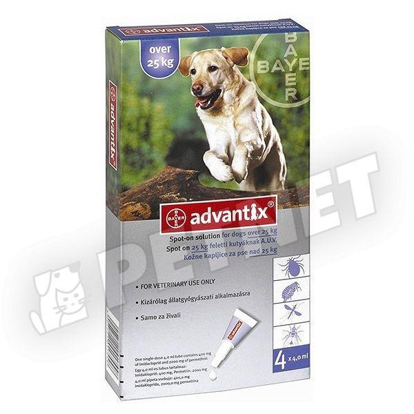 Advantix Spot On 25kg felett 4x4ml