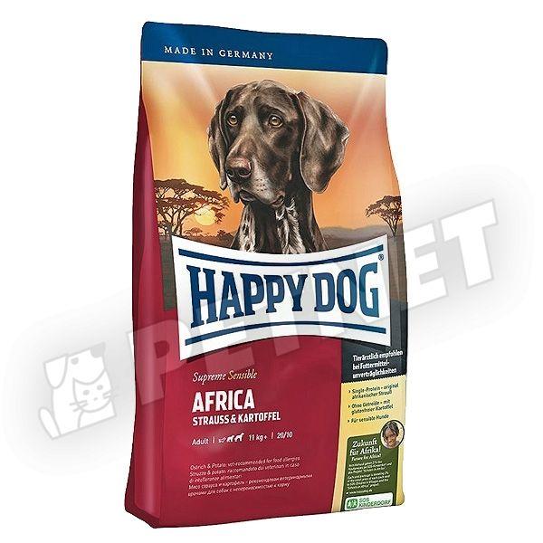 happy dog supreme sensible africa strucch ssal 1kg kutyat p rz keny kuty knak. Black Bedroom Furniture Sets. Home Design Ideas