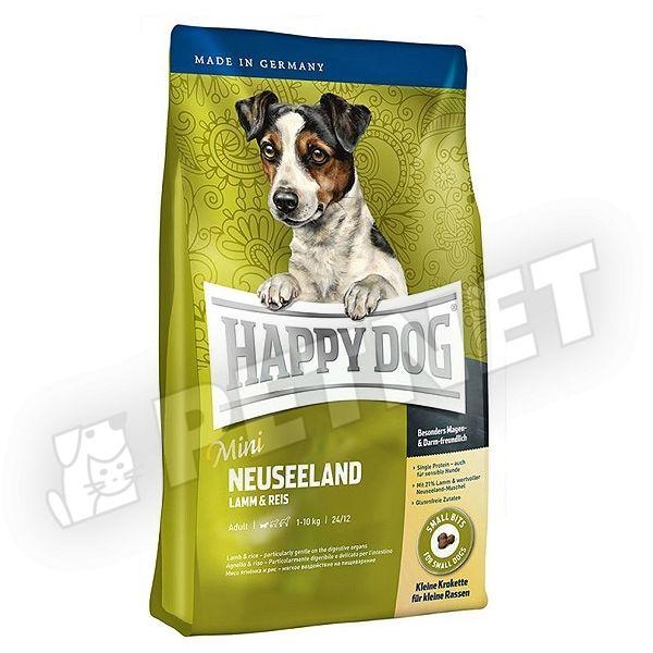 happy dog supreme mini neuseeland b r nnyal 1kg kutyat p kistest feln tt kuty knak. Black Bedroom Furniture Sets. Home Design Ideas