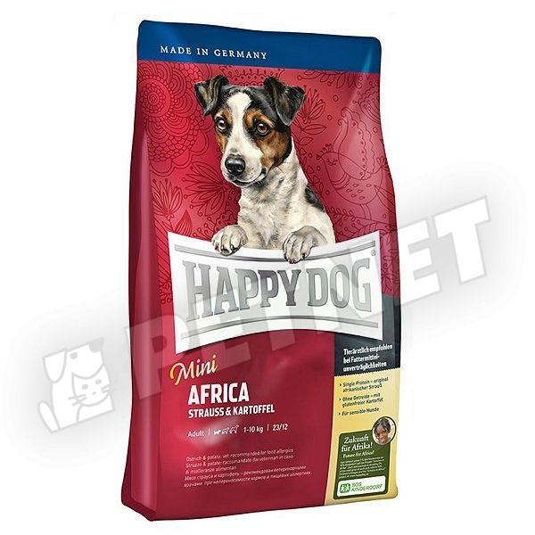 happy dog supreme mini africa strucch ssal 1kg kutyat p kistest feln tt kuty knak. Black Bedroom Furniture Sets. Home Design Ideas