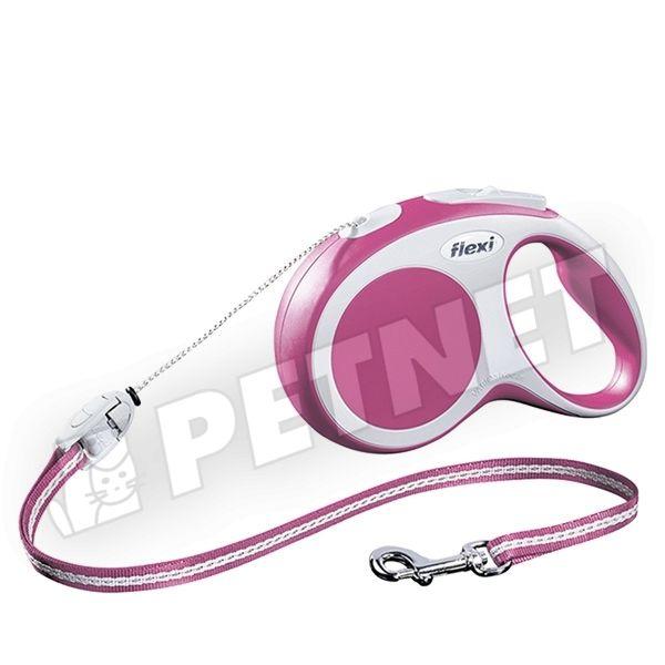 8e9a16a209df Flexi Vario M Zsinóros Pink 5m/20kg - zsinóros automatapóráz kutyáknak