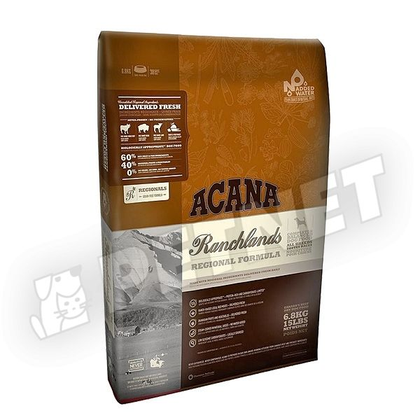 Acana Ranchlands Dog Vöröshúsos 11,4kg
