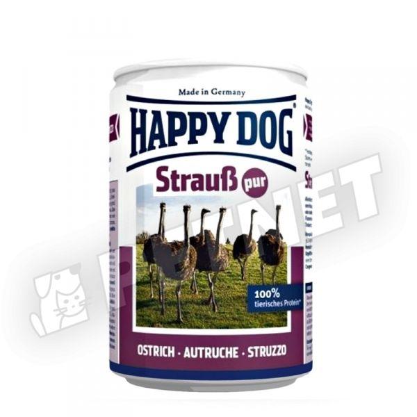 Happy Dog Strauss Pur Strucc színhús konzerv 400g