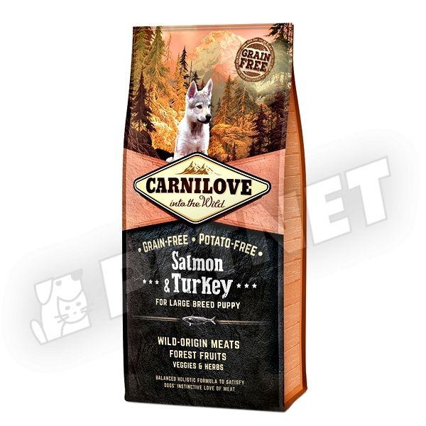 carnilove salmon turkey puppy large 12kg gabonamentes. Black Bedroom Furniture Sets. Home Design Ideas