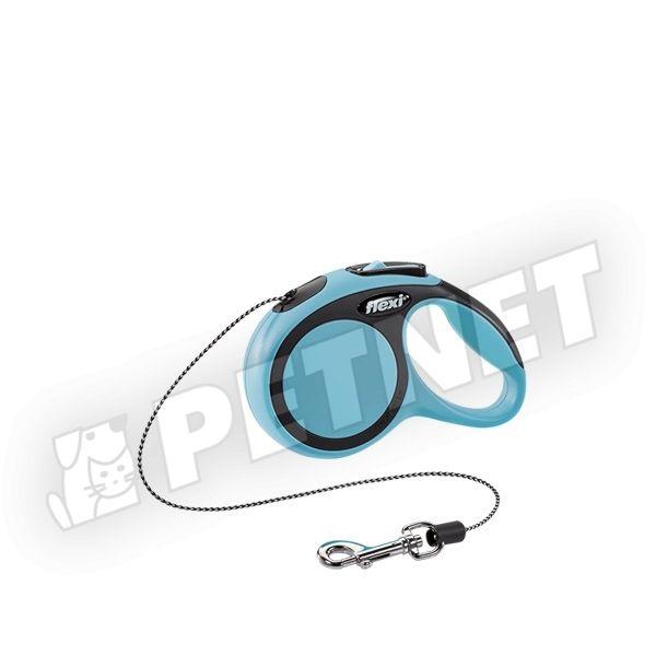 Flexi New Comfort XS zsinóros Kék 8kg/3m