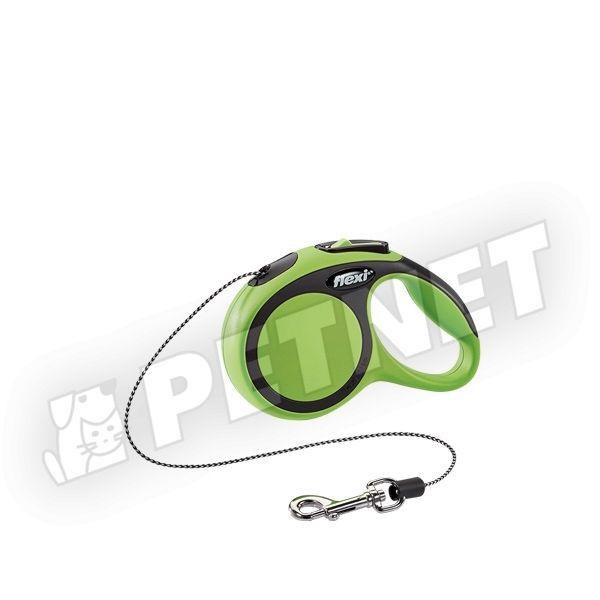 Flexi New Comfort XS zsinóros Zöld 8kg/3m