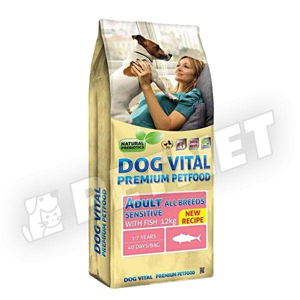 Dog Vital Adult Sensitive All Breed Fish 12kg