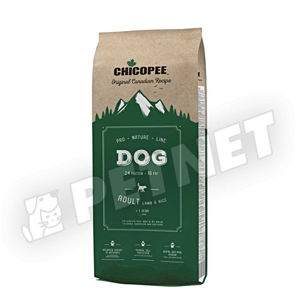 Chicopee Pro-Nature Line Adult Lamb & Rice 20kg