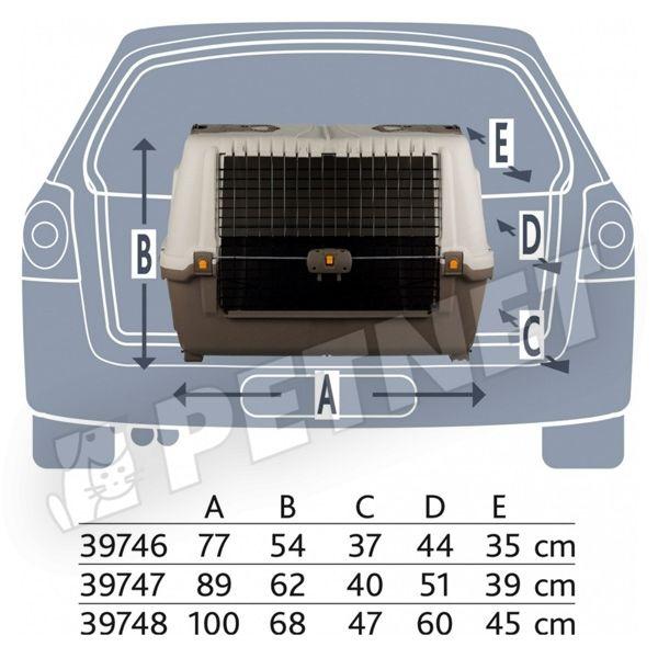 Trixie Skudo Car Transport 90 szállítóbox 89x62x51cm