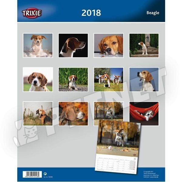 Trixie Beagle kutyás falinaptár 2018
