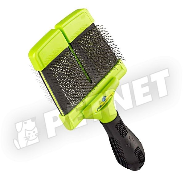 FURminator Large Firm Slicker Brush kétoldalas kutyakefe