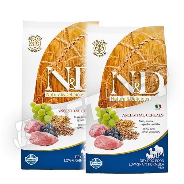 N&D Low Grain Adult Maxi Bárány Áfonya 2x12kg