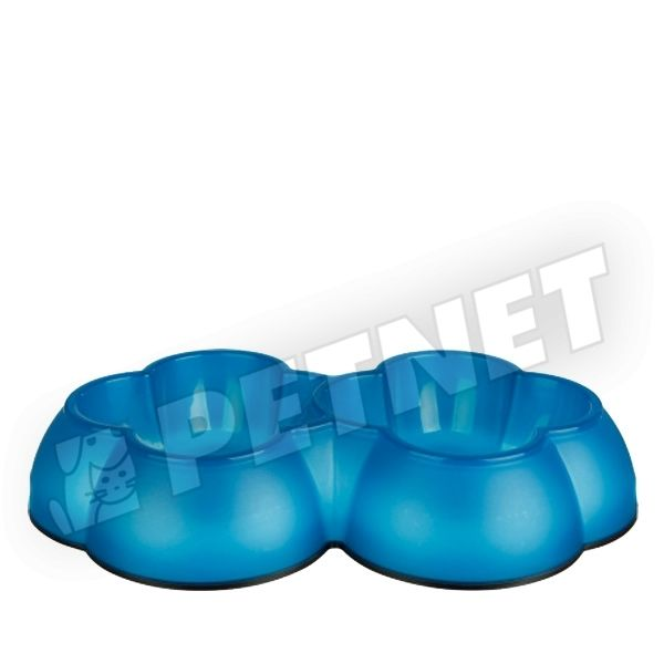 Trixie Flower Double Bowl műanyag etetőtál 2x0,3L