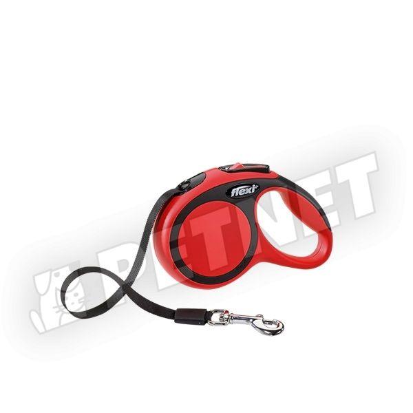 Flexi New Comfort XS szalagos Piros 12kg/3m