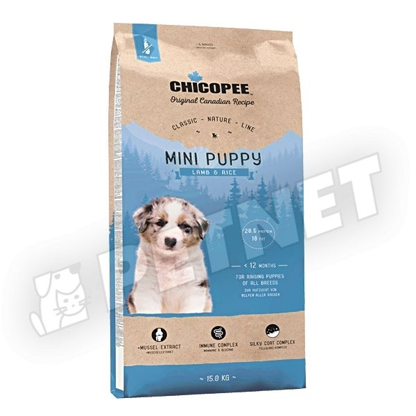 Chicopee Classic Nature Line Puppy Mini Lamb 500g