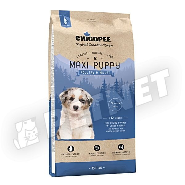 Chicopee Classic Nature Line Puppy Maxi Poultry & Millet 2kg
