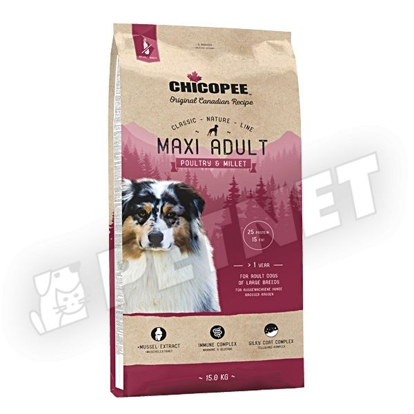 Chicopee Classic Nature Line Maxi Adult Poultry & Millet 15kg