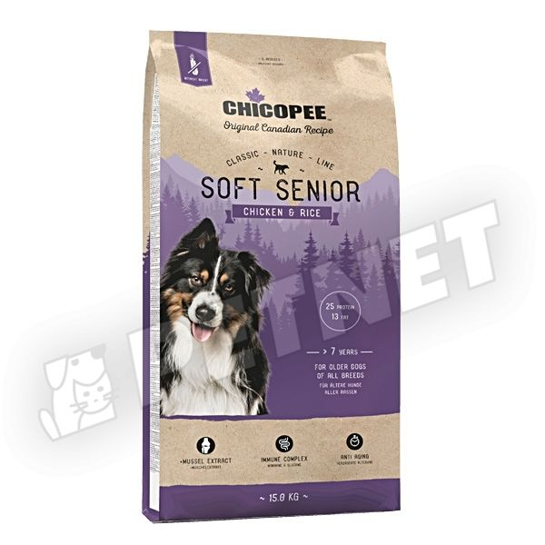 Chicopee Classic Nature Line Soft Senior Chicken & Rice 15kg