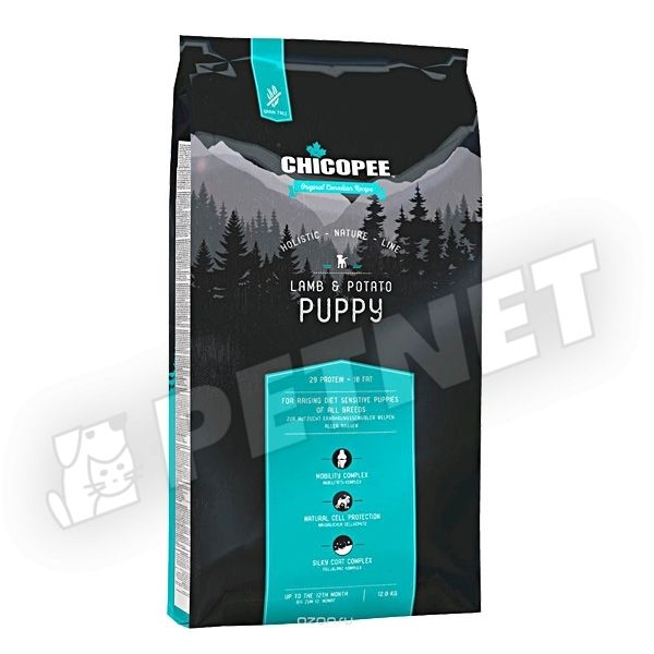 Chicopee Holistic Nature Line Grain Free Puppy Lamb & Potato 12kg