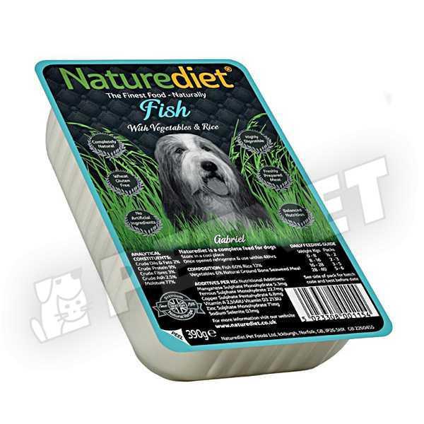 NatureDiet Fish Vegetables Rice menü 390g
