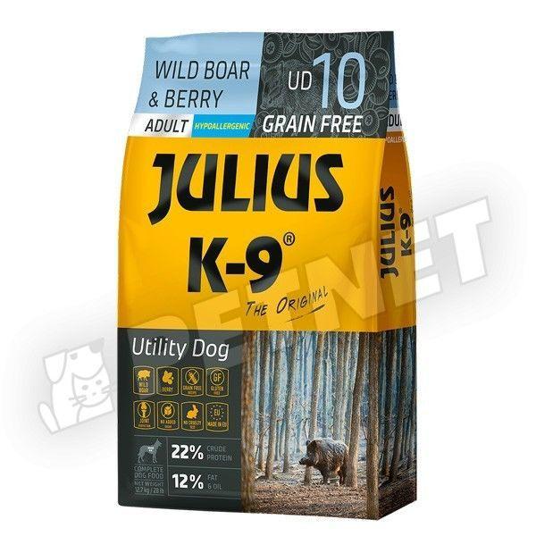 Julius K-9 GF Utility Dog Hypoallergen Adult Vaddisznó áfonya 10kg
