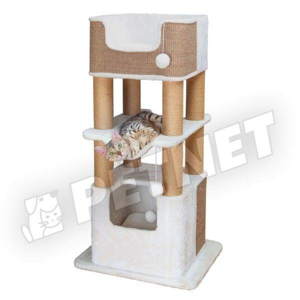 Trixie Lucano macskabútor kaparófával Törtfehér 110cm