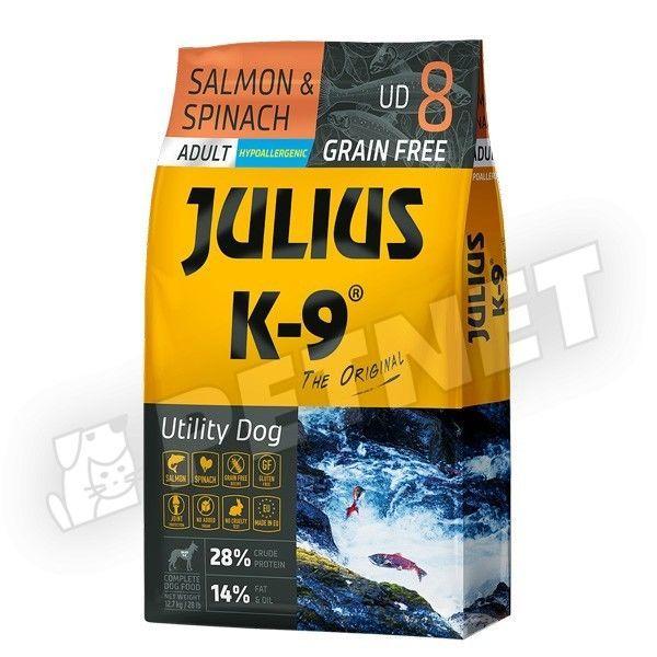 Julius K-9 GF Utility Dog Hypoallergen Adult Lazac spenót 340g