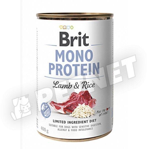Brit Mono Protein Bárány & Rizs 400g