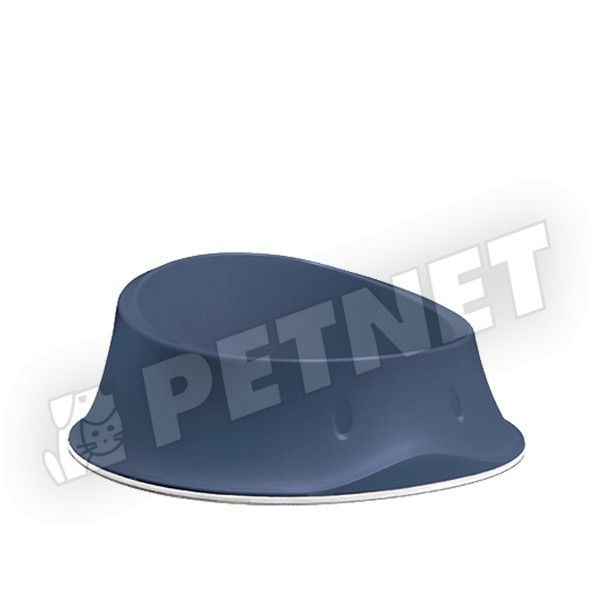Stefanplast Bowl Chic Navy Blue gumis aljú etetőtál 650ml