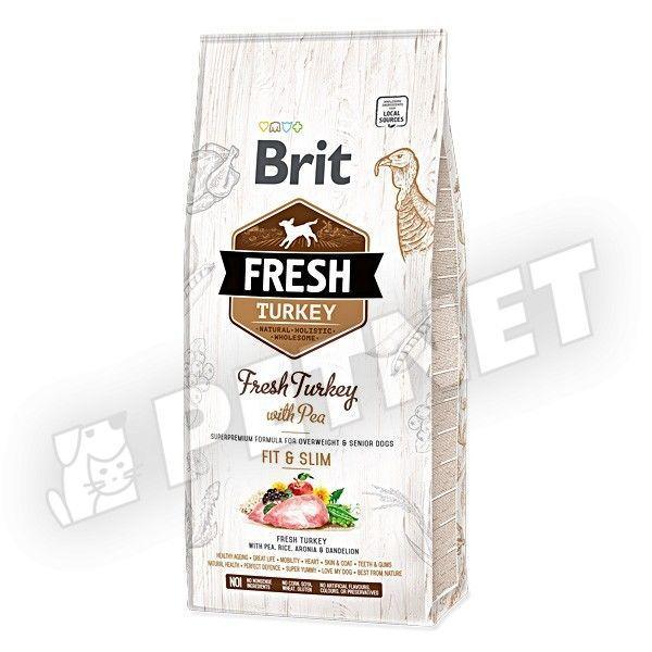 Brit Fresh Senior Fit & Slim Friss Pulyka borsóval 2,5kg