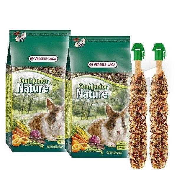 Versele-Laga Cuni Junior Nature 2x750g +Ajándék