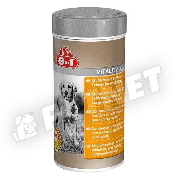 8in1 Multivitamin és Ásványi anyagok felnőtt kutyáknak 70db