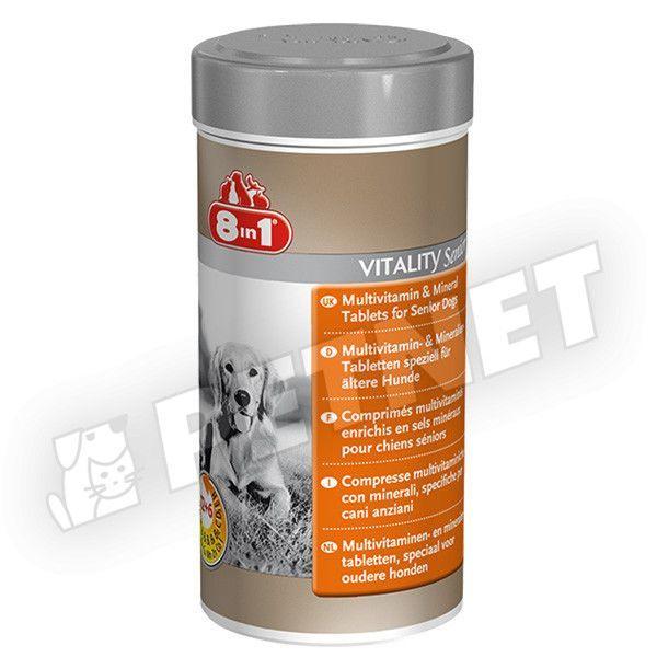 8in1 Multivitamin és Ásványi anyagok idős kutyáknak 70db