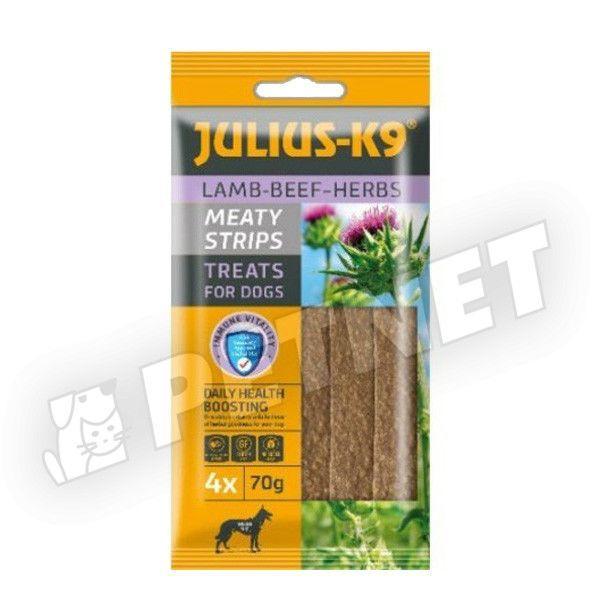 Julius K9 Lamb and Herbals Meaty Strips Bárány gyógynövénnyel 70g