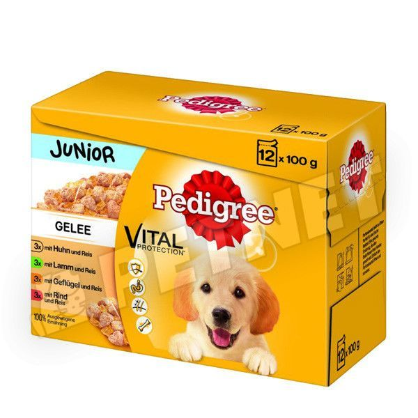 Pedigree Junior Vital Multipack aszpikban 12x100g