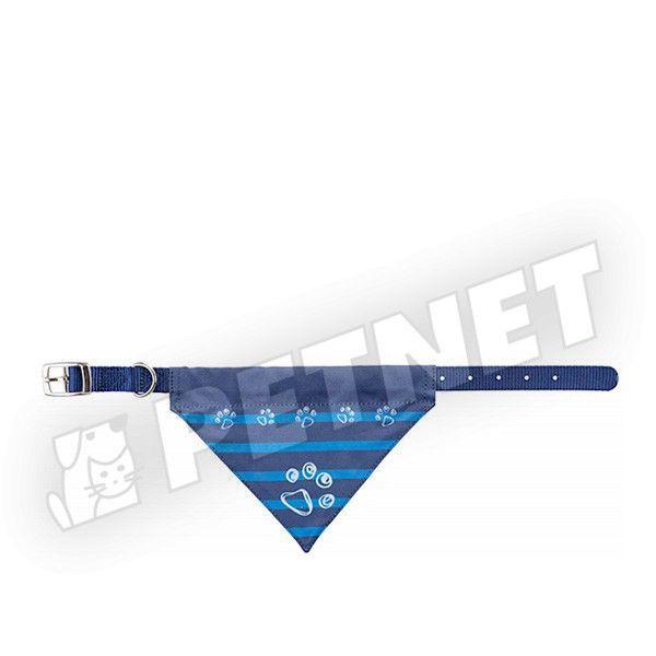 Trixie Kendős Prémium nyakörv kutyáknak Kék S-M 30-38cm