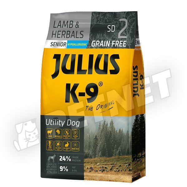 Julius K-9 GF Utility Dog Hypoallergen Senior Lamb Herbals 10kg