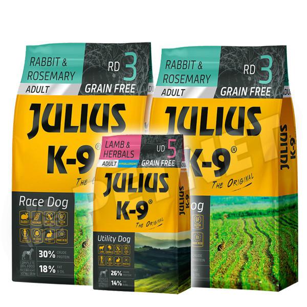 Julius K9 GF Race Dog Adult Nyúl rozmaring 2x10kg +Ajándék 3kg