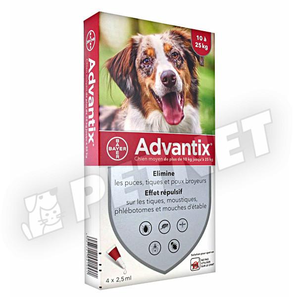Advantix Spot On 10-25kg között 4x2,5ml
