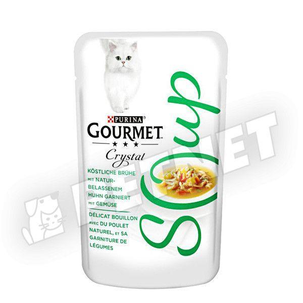 Gourmet Crystal Soup Natural Csirke zöldséggel leves 40g
