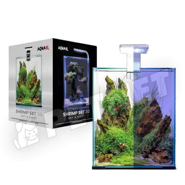AquaEl Shrimp Set Day & Night LED 30 Fehér 30x30x35cm