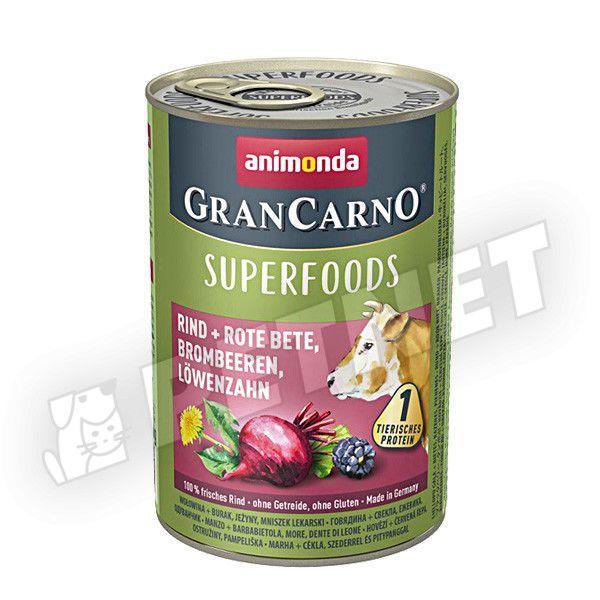 Animonda GranCarno Superfoods Marha Cékla 400g