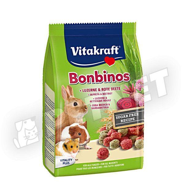 Vitakraft Bonbinos lucernás céklás falatkák 50g