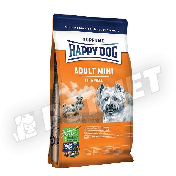 happy dog fit well adult mini 1kg kutyat p kistest feln tt kuty knak. Black Bedroom Furniture Sets. Home Design Ideas