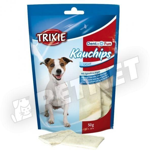 Trixie DentaFun Fogtisztító Chips Spirulinás 50g