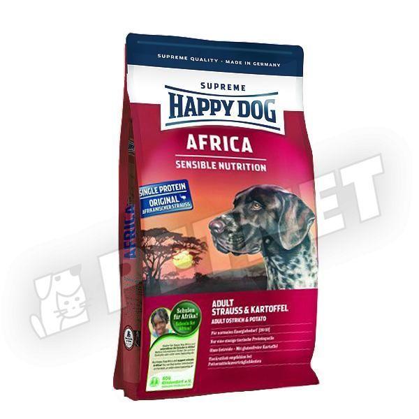 happy dog supreme sensible africa strucch ssal 12 5kg kutyat p rz keny kuty knak 15 kedvezm ny. Black Bedroom Furniture Sets. Home Design Ideas
